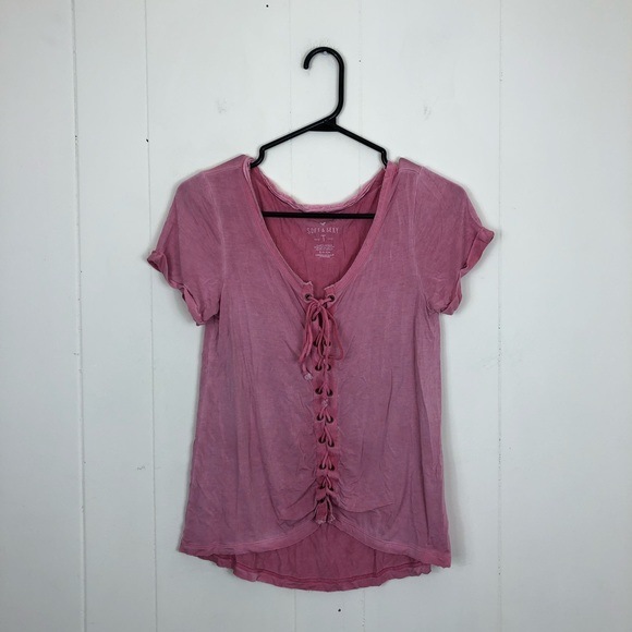 3/$20 American Eagle Soft & Sexy Front Tie Sz S